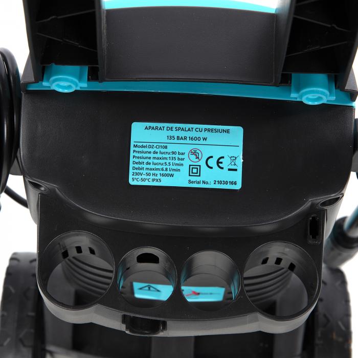 Aparat de spalat cu presiune,jet 135 bar 1600W, Detoolz DZ-CI108 [9]