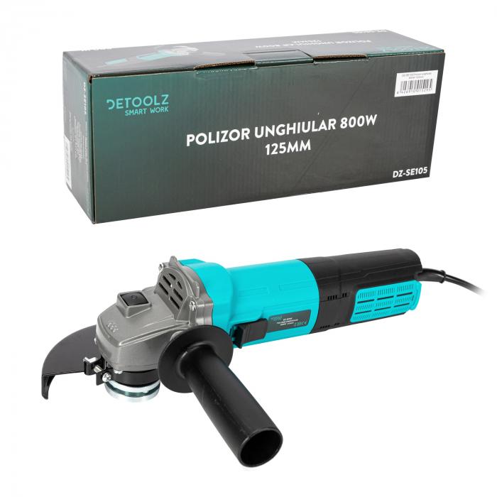 Polizor unghiular 800W 125mm Detoolz DZ-SE105 [3]