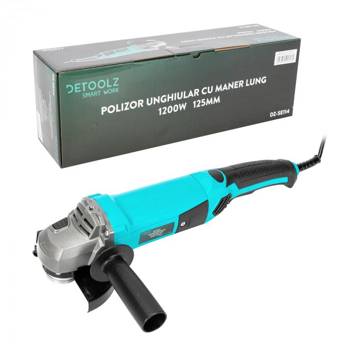 Polizor unghiular 1200W 125mm cu maner lung Detoolz DZ-SE114 [4]