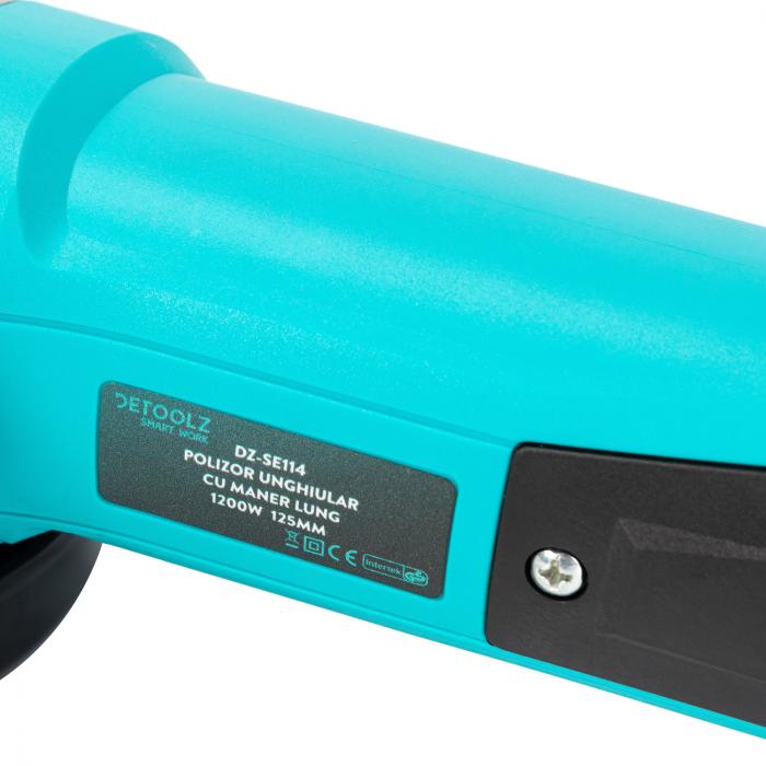 Polizor unghiular 1200W 125mm cu maner lung Detoolz DZ-SE114 [5]