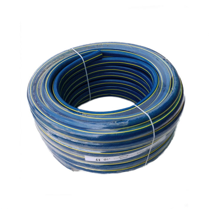 "Furtun gradina BLUEBOS PLUS 1/2"" 50m 4 straturi, clasa 3 rezistenta, insertie [1]"
