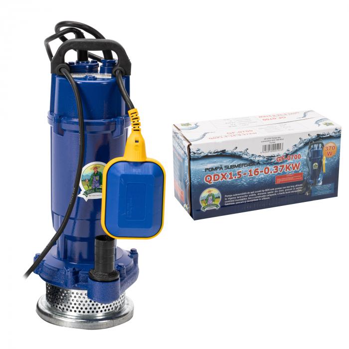 Pompa apa submersibila cu plutitor, apa curata, 16m 0,37kW Micul Fermier GF-0700 [4]