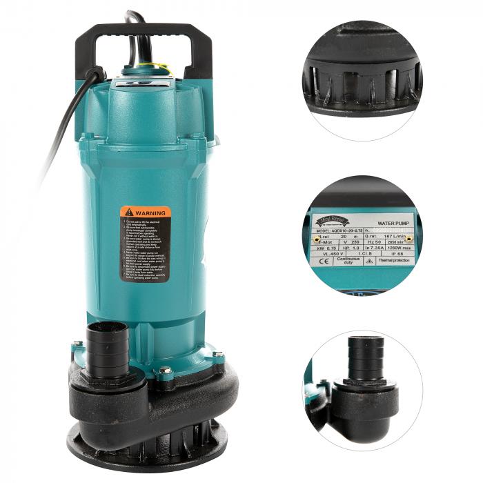 "Pompa apa submersibila, Micul Fermier GF-2051 QDX10-20M 0.75KW 1.5"" [1]"