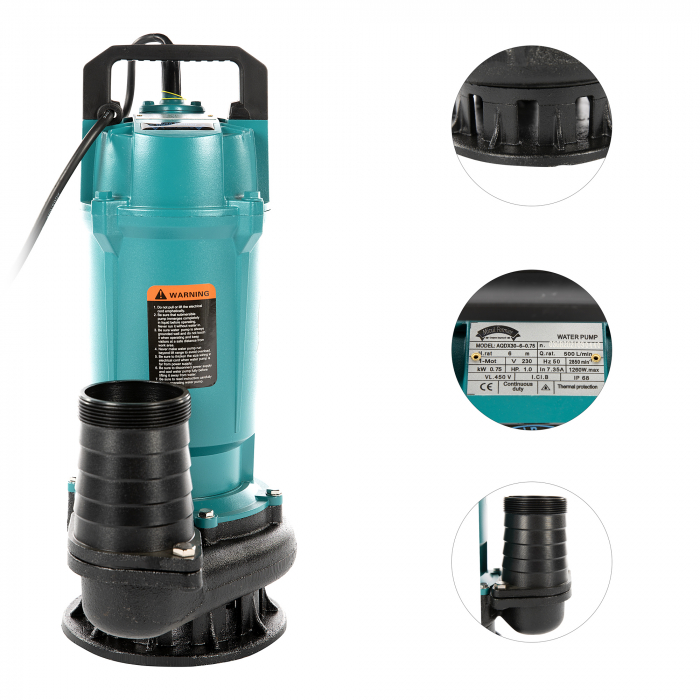 "Pompa apa submersibila, Micul Fermier GF-2052, QDX30-6M 0.75KW 3"" [1]"