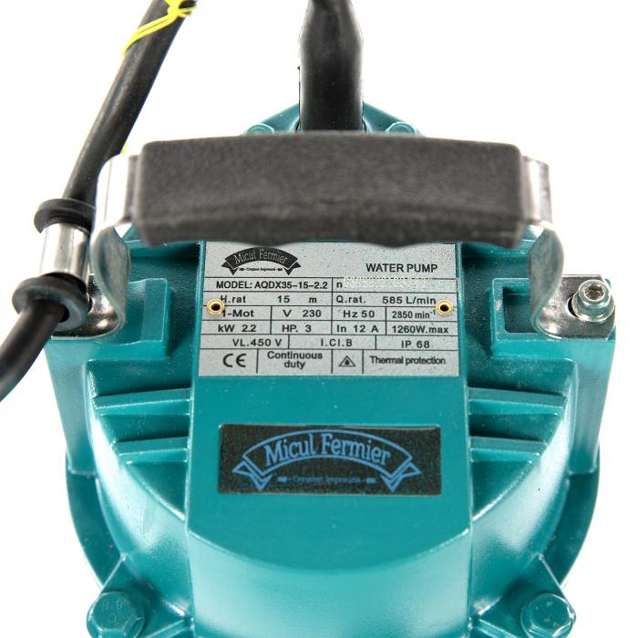 "Pompa apa submersibila, Micul Fermier GF-2053, QDX35-15M 2.2KW 3"" [2]"