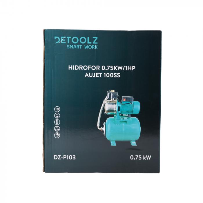 Hidrofor 0,75kW/1HP AUJET 100SS, bobinaj cupru Detoolz DZ-P103 [6]