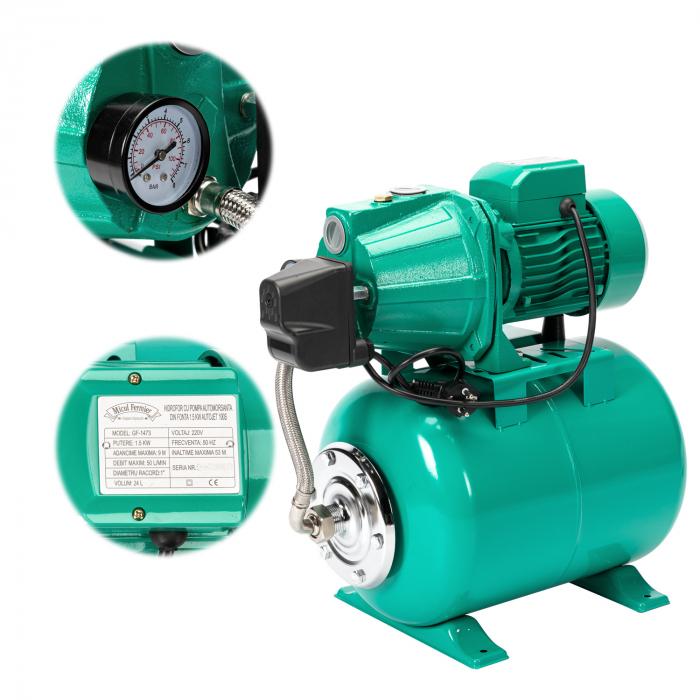 Hidrofor cu pompa autoamorsanta din fonta 1,5kW, Autojet 100SS Micul Fermier GF-1473 [0]