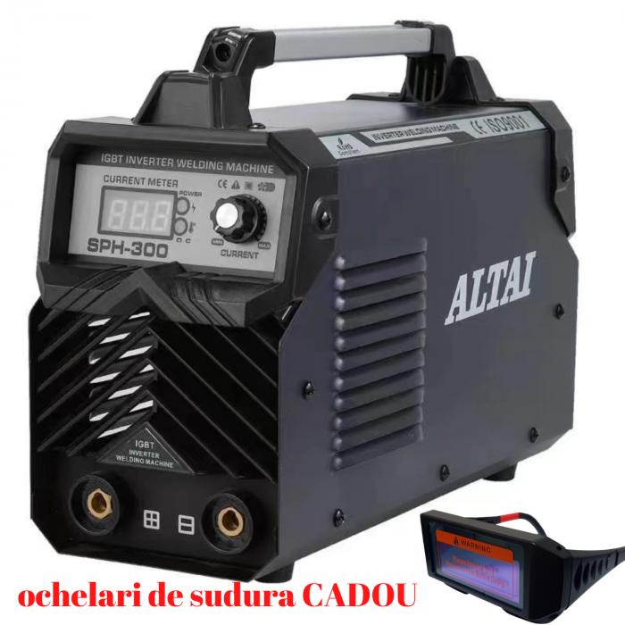 Pachet Invertor de sudura ALTAI SPH300 AH,cablu sudura 3m, ochelari de sudura cristale lichide CADOU [0]