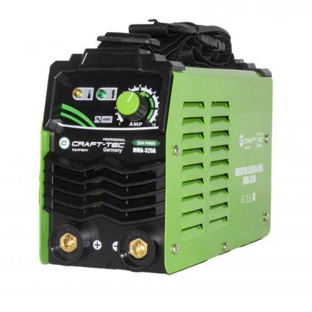 Aparat Sudura Invertor CRAFT-TEC MMA 320A, 320Ah, diametru electrod 1.6 - 4 mm 1