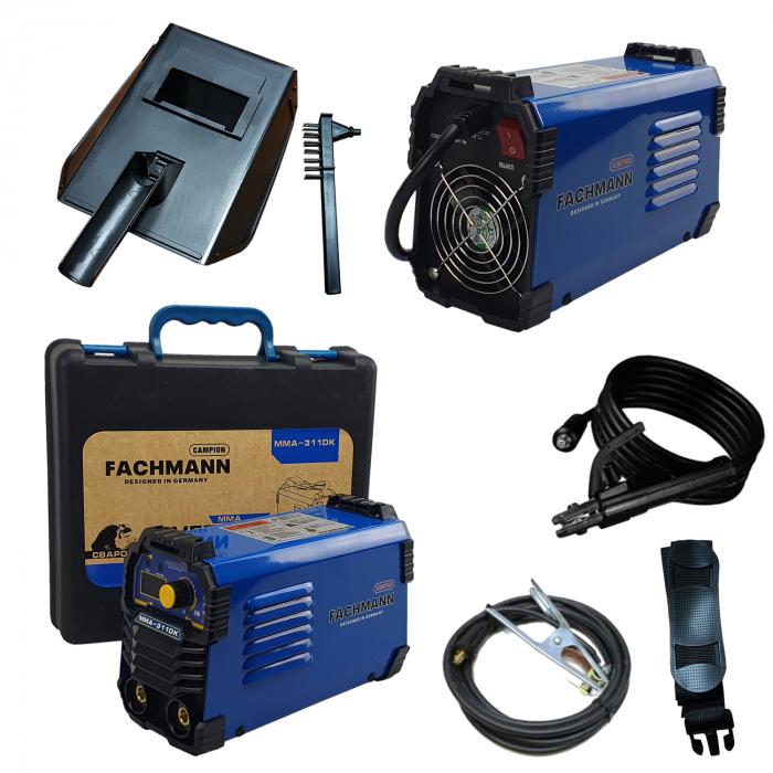 Aparat de sudura , invertor Fachmann 311DK , 310Ah, cablu sudura 3m, racire cooler (ventilator) 1.6mm-5.00 electrod [1]