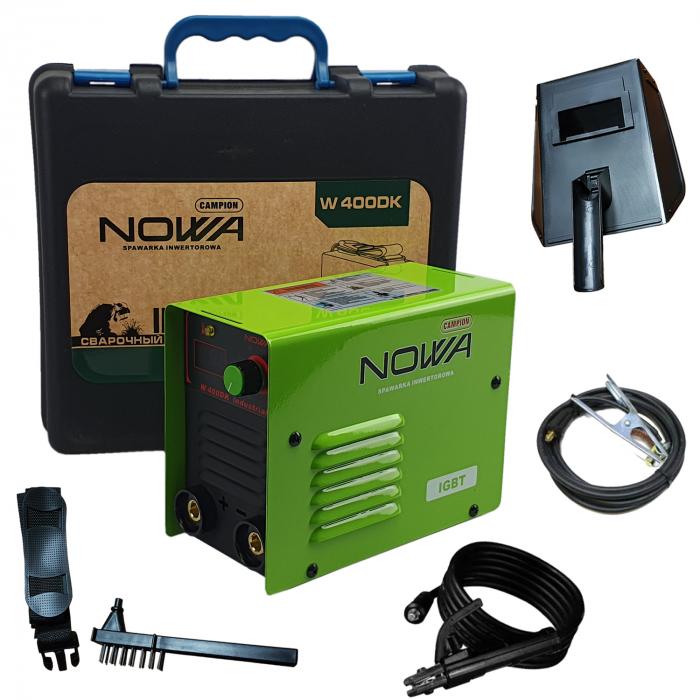 Aparat de sudura, invertor NOWA 400DK, 400Ah, valiza transport, accesorii incluse, cablu sudura 3m, afisaj digital [0]