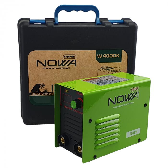 Aparat de sudura, invertor NOWA 400DK, 400Ah, valiza transport, accesorii incluse, cablu sudura 3m, afisaj digital [2]