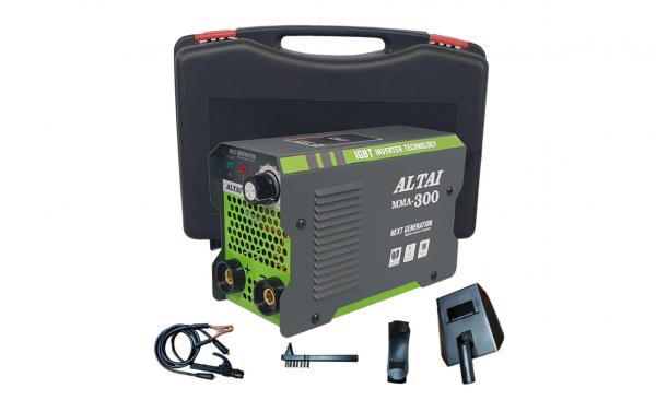 Aparat de sudura / invertor ALTAI MMA300, valiza transport, 300 Ah, cabluri de sudura 3m [0]