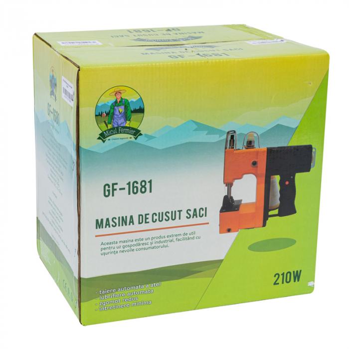 Masina electrica de cusut saci Micul Fermier, putere 210W, 800rpm, 1700-2000 imp/min, portocaliu/negru 4