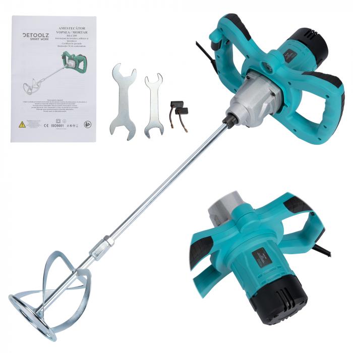 Amestecator mixer vopsea/mortar 1300W, mixer, 2 viteze Detoolz DZ-C205 [3]