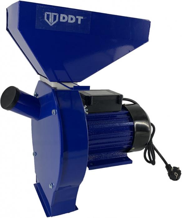 Moara electrica cu ciocanele pentru cereale si stiuleti, DDT, 3.5 kW, 3000 rpm, 200 kg/h [1]