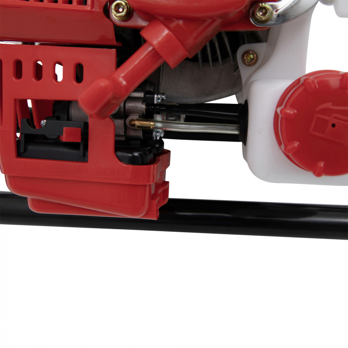 Pachet Motoburghiu pe benzina (foreza) pamant 6.0CP rosu TRIGO by CAMPION + Burghiu 200mm x 800mm [2]