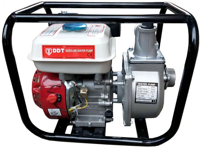 "Motopompa pe benzina motor 4 timpi DDT, WP-50 , 6.5 cp, 196 CC, 30 m³/h debit, 2 "" [0]"