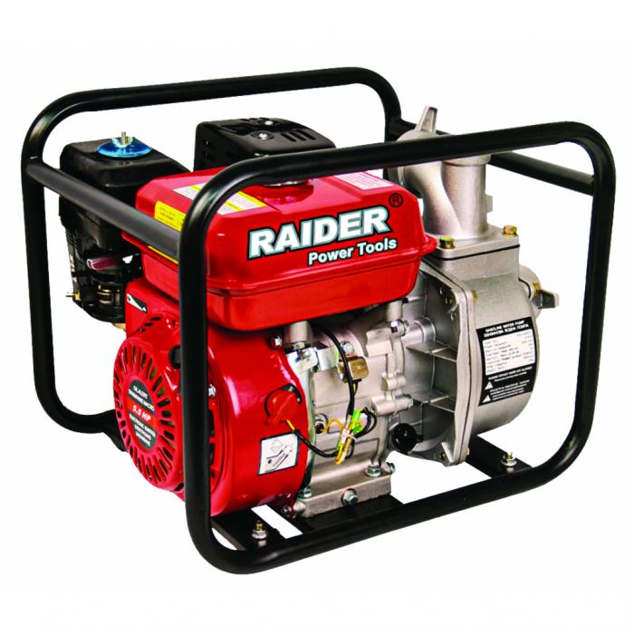 "Motopompa pe benzina RAIDER RD-GWP01, 4.1 kw, 4 timpi, 2"" toli, 3600 rotatii / minut [0]"