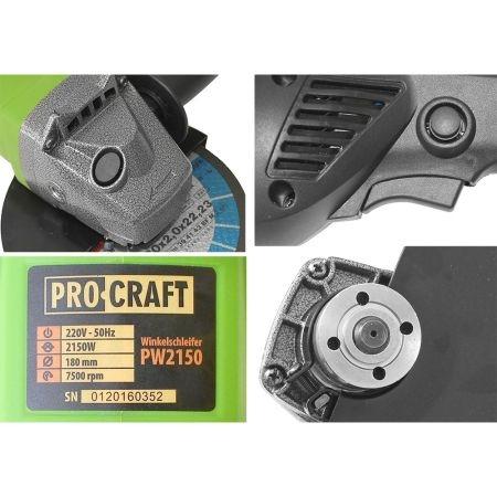 Polizor unghiular ProCraft PW2150, 2150W, 7500 Rpm, 180mm 4
