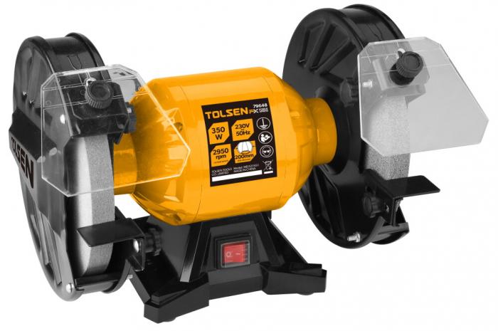 Polizor de banc Toolsen 79648, 350W, 200mm, 2950/rpm [0]