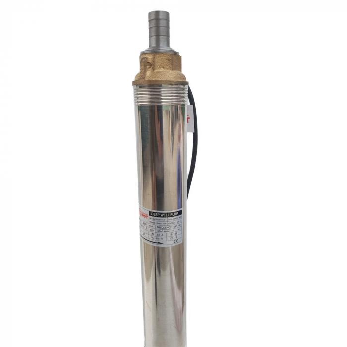 Pompa submersibila de mare adancime, DDT, 4SDM3-11, 1100 W, 14 turbine, Inox, 70m, bobinaj cupru [1]