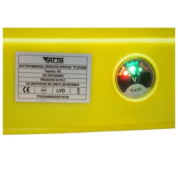 Pompa stropit acumulator, vermorel 20L, 2 in 1 ( acumulator+manuala) 12v, 5 bar, TATTA 3