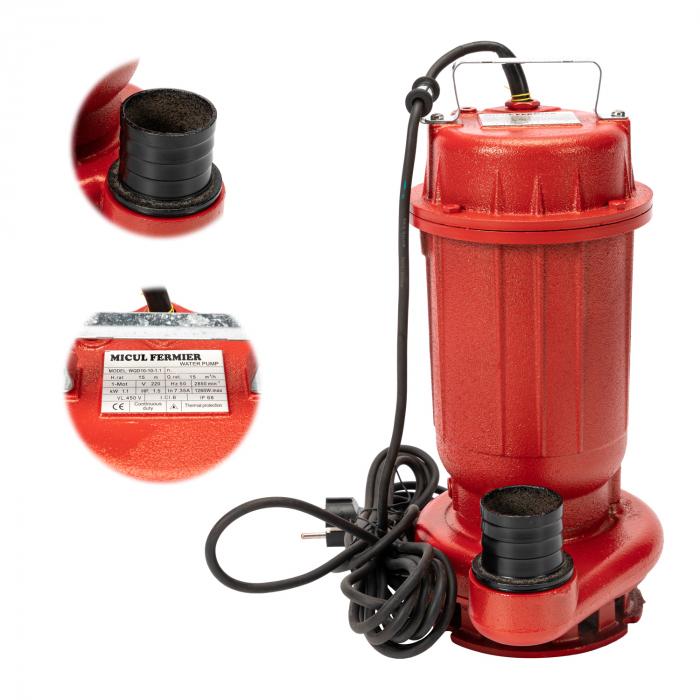 Pompa drenaj apa murdara fara tocator Micul Fermier 1.1 kw [0]