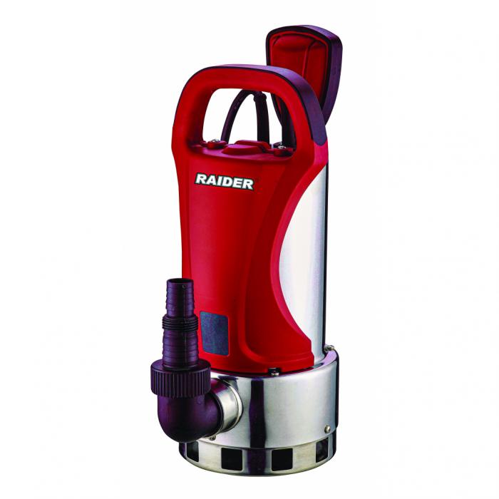 """Pompa submersibila din inox pt ape murdare, plutitor 750W 1"""" max 225L/min, 7.5m, Raider RD-WP38 0"""
