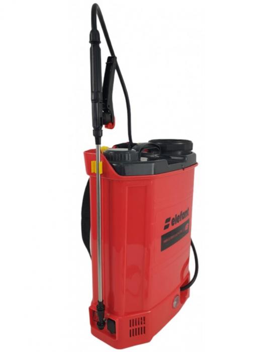 Pompa stropit electrica Elefant 18Litri, 5 Bar, reglaj presiune, vermorel cu baterie acumulator 12V [2]