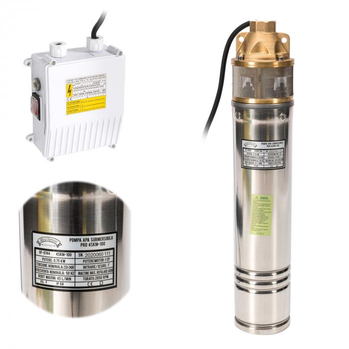 Pompa submersibila 65m PRO 4SKM-100 MF 2.7mc/h Micul Fermier GF-0744 [0]