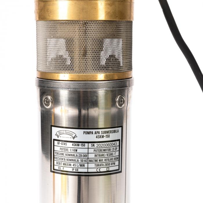 Pompa submersibila 95m PRO 4SKM-150 MF 2.7mc/h, Micul Fermier GF-0745 [3]