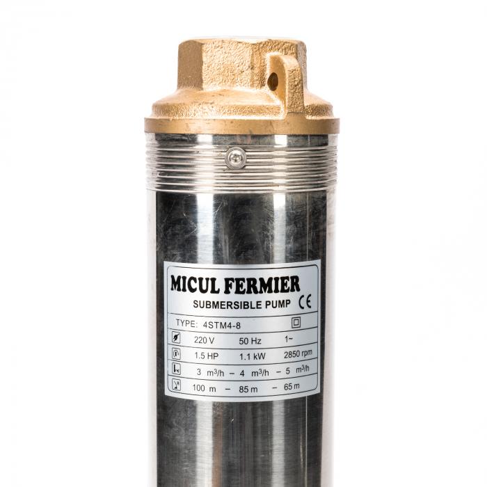 Pompa submersibila, apa curata, tun lung 100QJD5/8-1.1 u ALBASTRU Micul Fermier GF-0709 [2]