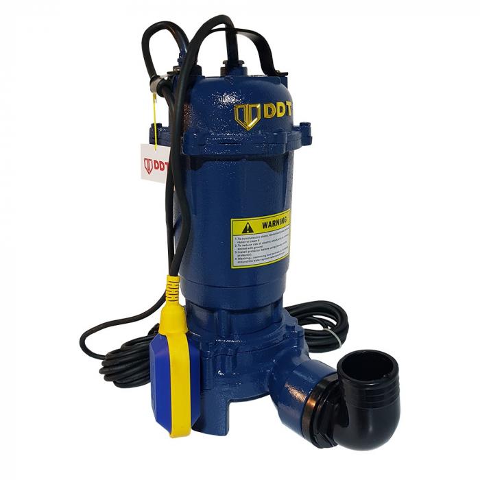 Pompa submersibila apa murdara cu tocator si plutitor, DDT, WQD10, 1100W [0]