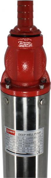 Pompa submersibila de mare adancime, DDT, QJD12-120-1.8, 1800 W, 8 m³/h, 12 turbine, Inox 1