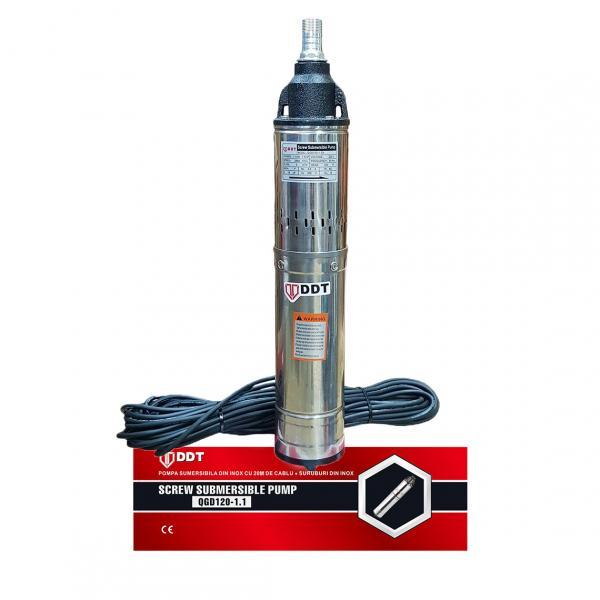 "Pompa submersibila, QGD120, 1.1 kW, Inox , 20 m cablu, 1"" tol [1]"