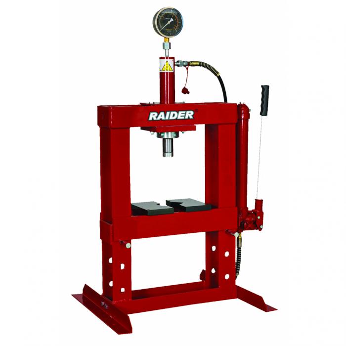 Presa hidraulica de banc cu indicator presiune 10t RAIDER RD-HP02 [0]