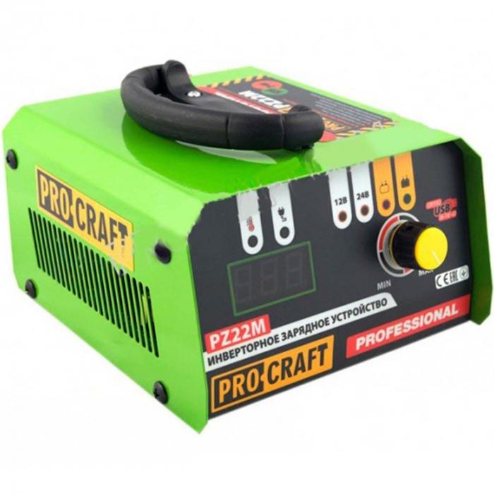 Redresor Auto Profesional Procraft PZ22, 20 A, 330 W, 12-24 V, port USB, ecran digital, protectie suprasarcina, indicator LED, invertor [0]
