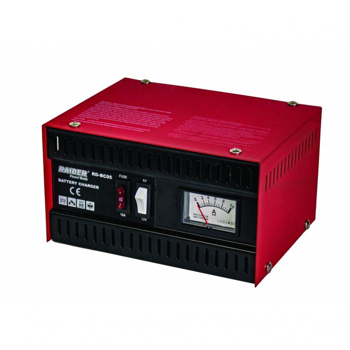 Redresor auto analog 6/12V 5A RAIDER,RD-BC05 [0]