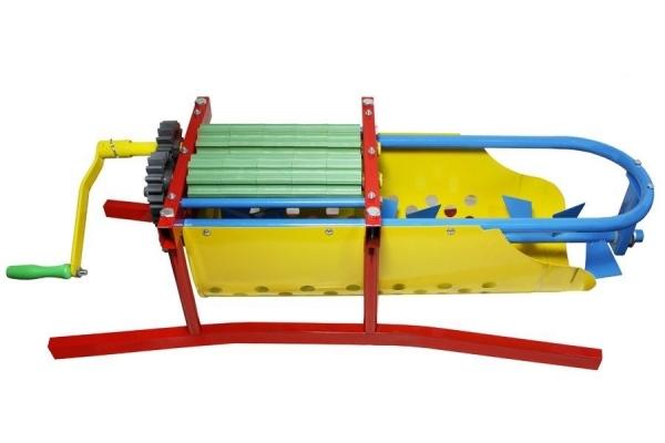 Zdrobitor de struguri manual cu desciorchinator,GF 1437,Cuva INOX,Capacitate 20L 3
