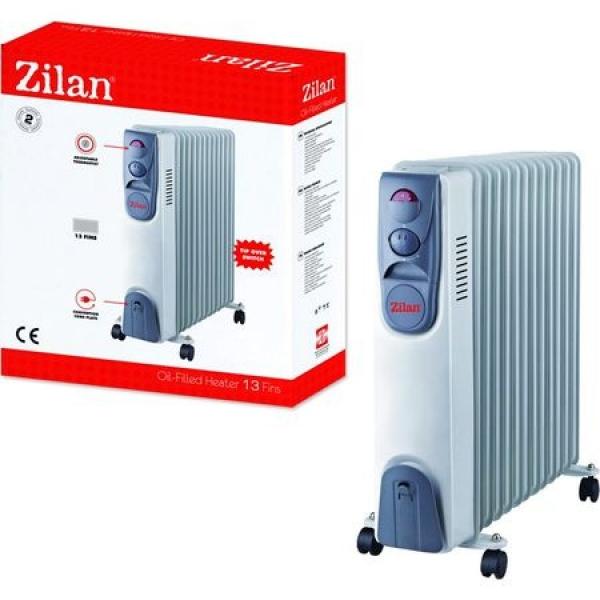 Calorifer electric cu timer Zilan ZLN9225, 9 elementi, 2000 W, 3 trepte, termostat 0