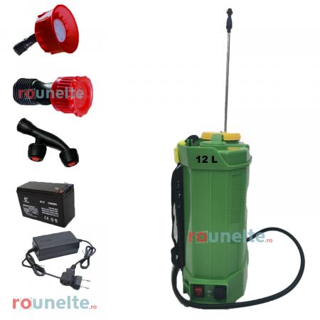 Pompa stropit electrica PROCRAFT 12 Litri, 5 Bar, reglaj presiune, vermorel cu baterie acumulator 12V [1]