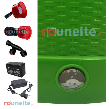 Pompa stropit electrica PROCRAFT 12 Litri, 5 Bar, reglaj presiune, vermorel cu baterie acumulator 12V [4]