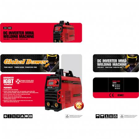 Aparat de Sudura tip Invertor, Dawer, MMA 300, Electrozi 1.6 - 5 mm, 300 A3