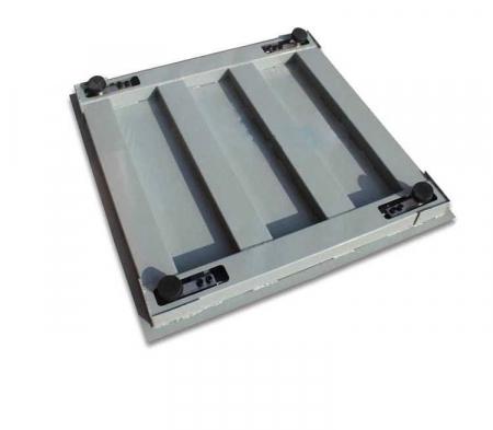 Cantar electronic platforma 3000 kg ( 3 tone ), tabla striata 5mm, 100 x 100cm ( 1m x 1m ) [3]