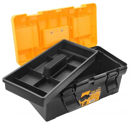 Cutie din material plastic pentru scule si unelte, 420X230X190 MM, Tolsen 80201 [1]