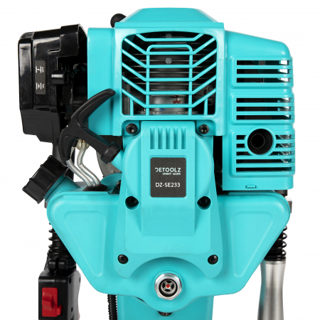 Masina batut stalpi, 2.5Nm, 1350bpm, motor 52CC, 2 timpi, 2 Cp, valiza transpor cu roti, Detoolz DZ-C233 [6]