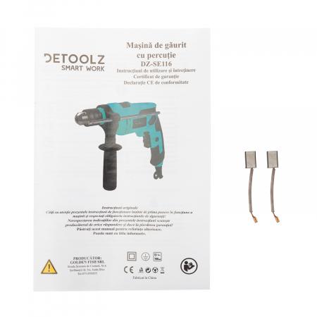Masina de gaurit cu percutie 810W (bormasina) Detoolz DZ-SE116 [5]