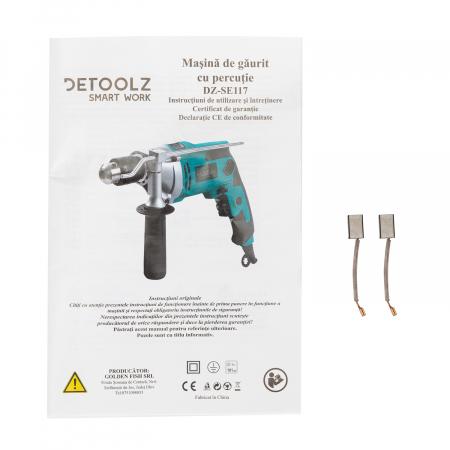 Masina de gaurit cu percutie 910W (bormasina) Detoolz DZ-SE117 [5]