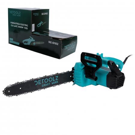Fierastrau,drujba electrica cu lant Detoolz DZ-D102, 2000W 151D + accesorii [0]
